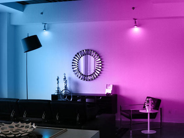 Ambient Lighting can change the mood of a room. Image via @citizengoods.com