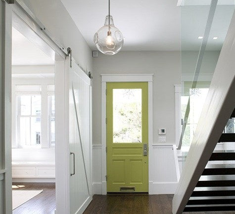 Add an unexpected pop of color like Al Green (C2-652) on the inside of the front door