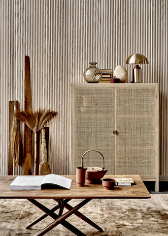 Japandi style: clean and minimal meets warm and cozy. Image via Italianbark.com