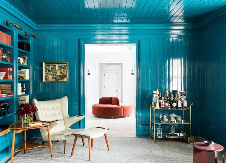 Wrapping a room in the same color is a current trend. image via Mydomaine.com