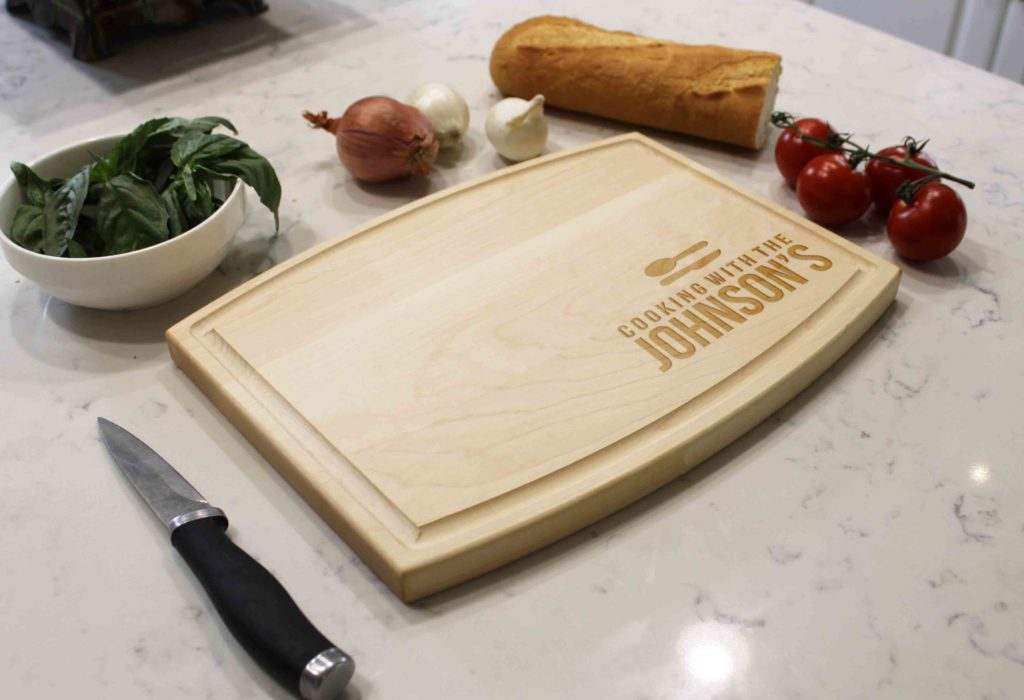 Personalized Wooden Cutting Board - Cooking Johnson - The Realty Depot