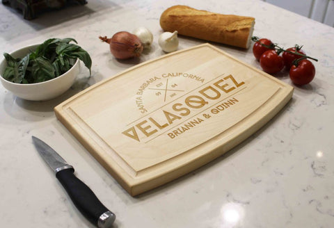 Personalized Wooden Cutting Board - Velasquez - The Realty Depot