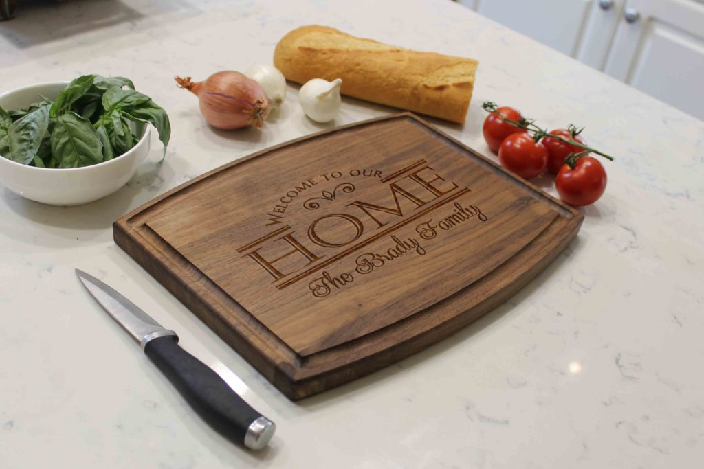 Personalized Wooden Cutting Board - Brady - The Realty Depot