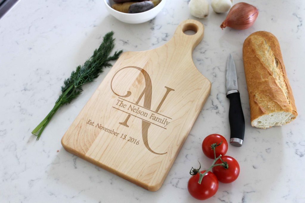 Personalized Wooden Cutting Board - Nelson - The Realty Depot