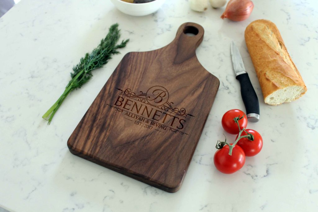 Personalized Wooden Cutting Board - Bennets - The Realty Depot
