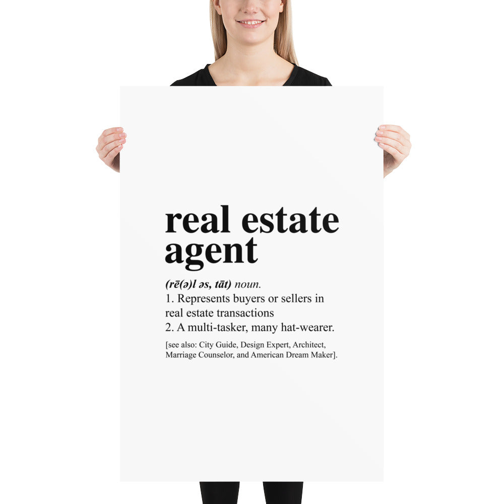 Real Estate Dictionary Poster Download - The Realty Depot