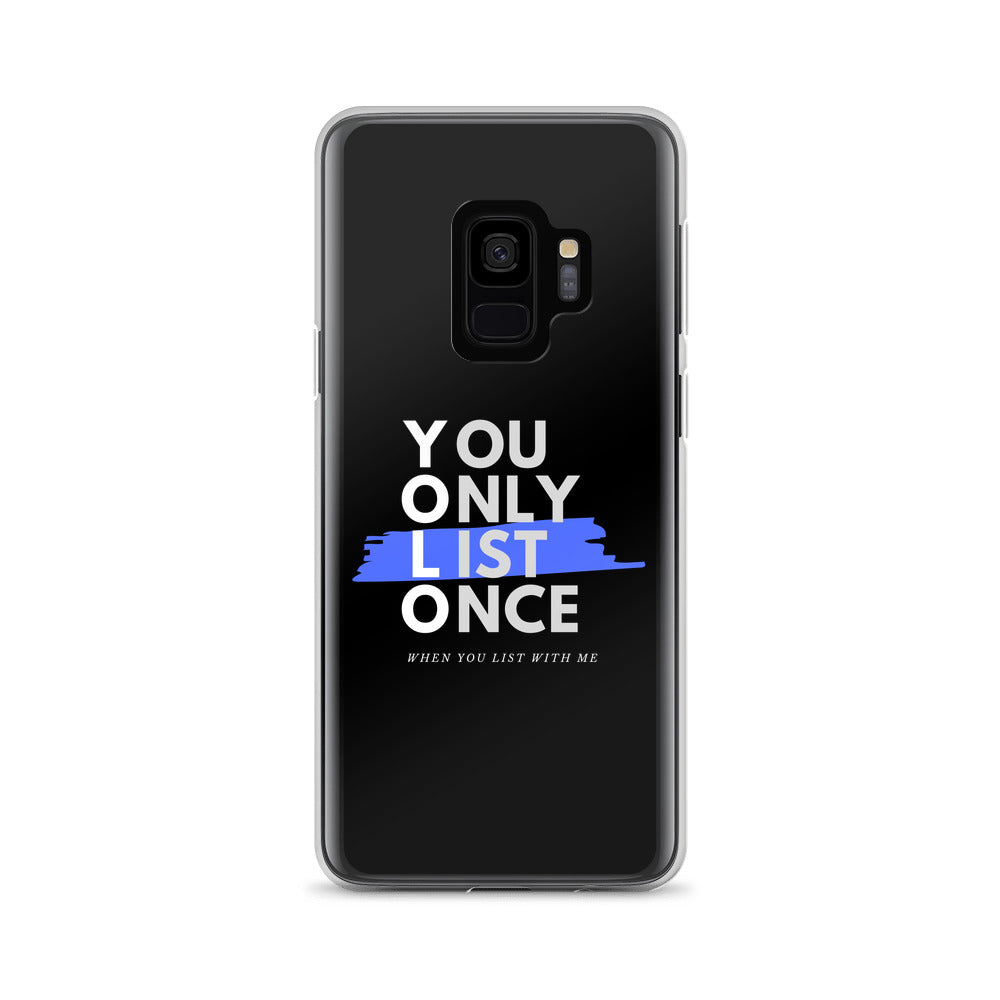 Yolo Blue - You Only List Once Samsung Galaxy Case - The Realty Depot
