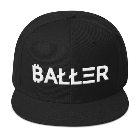 Baller Cryptocurrency Symbols Snapback Hat - The Realty Depot