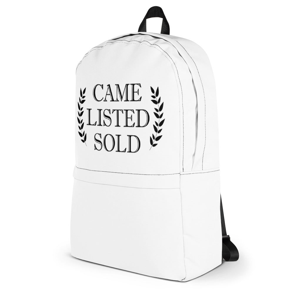 Came Listed Sold Backpack - The Realty Depot