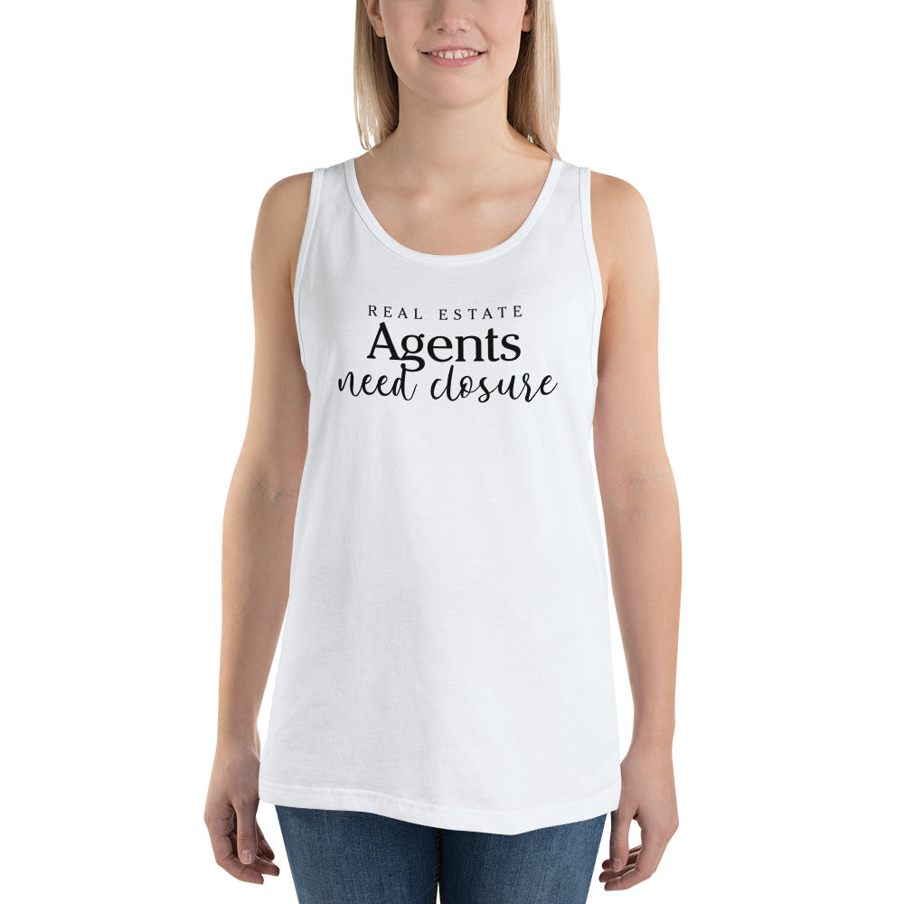 Real Estate Agents Need Closure Unisex Tank Top - The Realty Depot