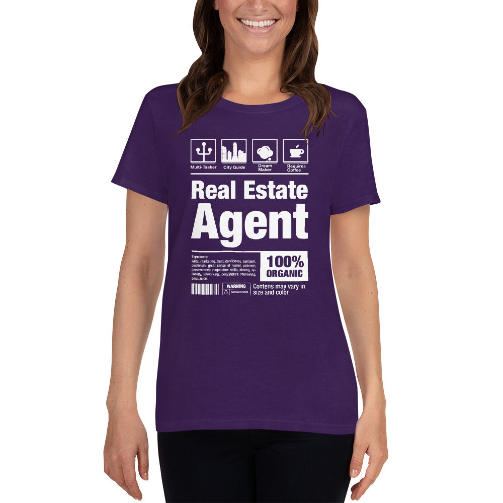 Real Estate Agent Tag Women's Short Sleeve T-Shirt - The Realty Depot