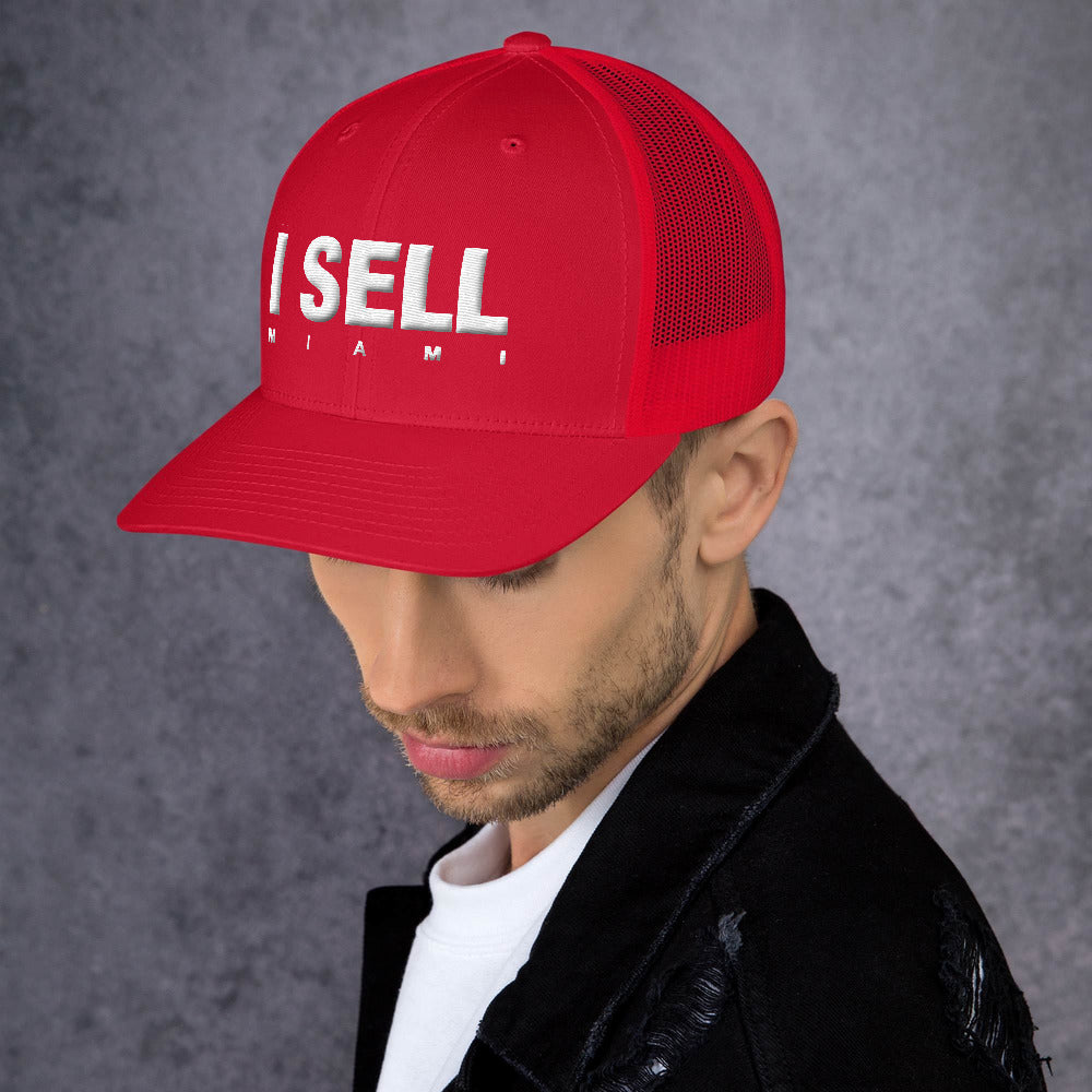 I Sell Miami 3d Puff Trucker Mesh Cap V2 - The Realty Depot
