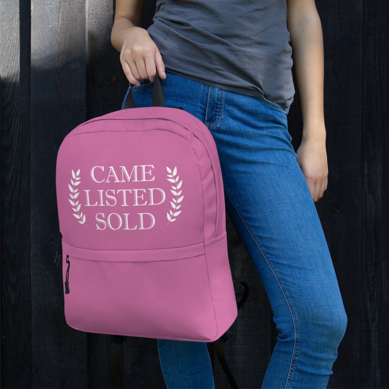 Came Listed Sold Pink Backpack - The Realty Depot