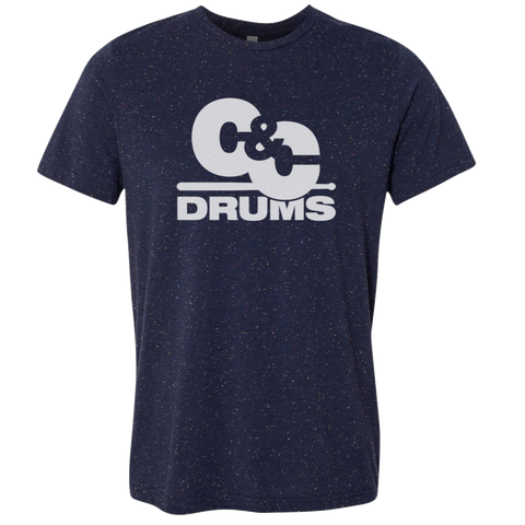 C&C Drum Co. | 70's T-Shirt - Speckled Navy