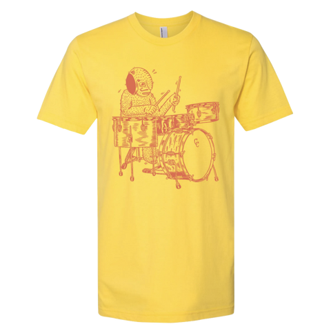 C&C Drum Co. | Drummer T-Shirt - Yellow