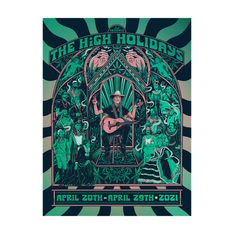 Luck Reunion | High Holidays Green Foil Poster -Preorder-