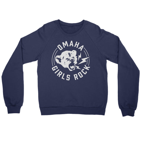 Omaha Girls Rock | Cub Crewneck Sweatshirt - Navy