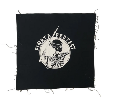 Piñata Protest | Skeleton Canvas Back Patch