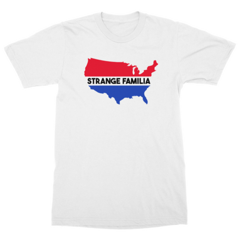 Strange Familia | USA T-Shirt - White