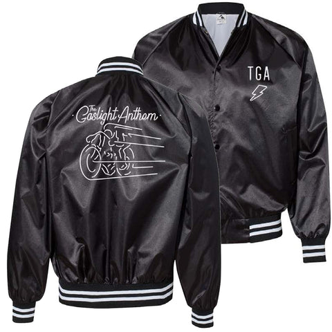 The Gaslight Anthem | Satin Baseball Jacket - Black
