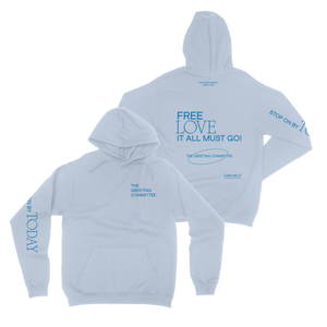 The Greeting Committee | Stop On By Hoodie - Light Blue *PREORDER*