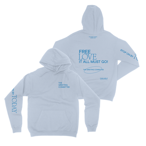 The Greeting Committee | Stop On By Hoodie - Light Blue