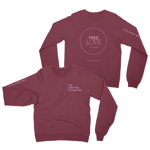 The Greeting Committee | It All Must Go Crewneck - Maroon