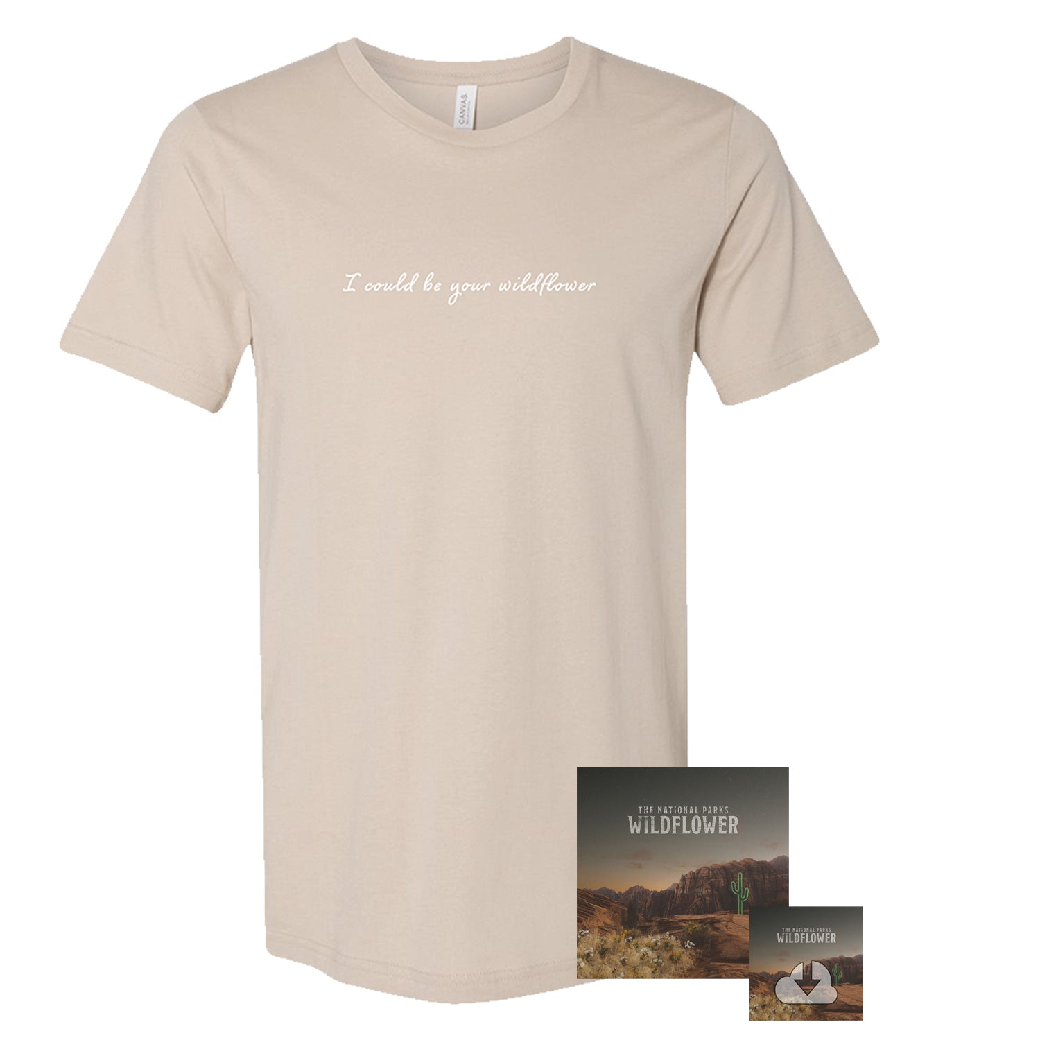 The National Parks | Wildflower CD + T-Shirt + Digital Download Bundle *Preorder*