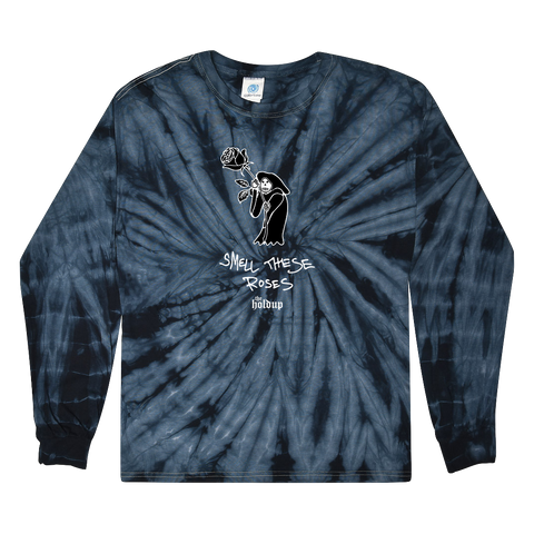 The Holdup | Smell These Roses Navy Tie-Dye Longsleeve *PREORDER*