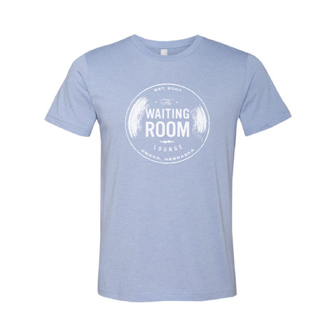 The Waiting Room | Logo T-Shirt - Heather Blue