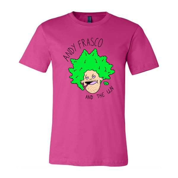 Andy Frasco Face T-shirt in Berry