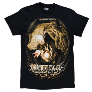 Killswitch Engage Vault | Disarm the Descent World Tour T-Shirt - Black/Gold
