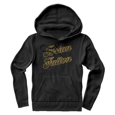 Brian Fallon | Gold Text Black Hoodie