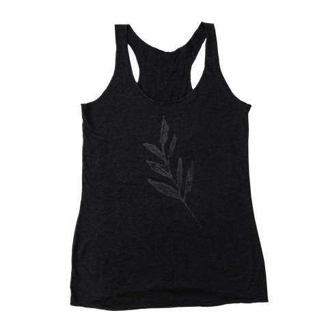The Album Leaf | Women's Leaf Tank Top - Stealth