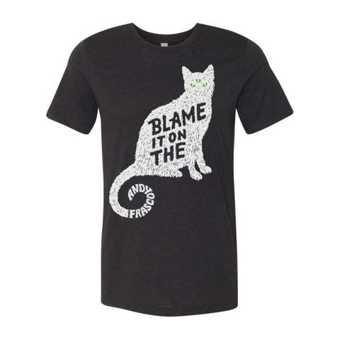 "Andy Frasco ""blame it on the pussy"" black t-shirt design"