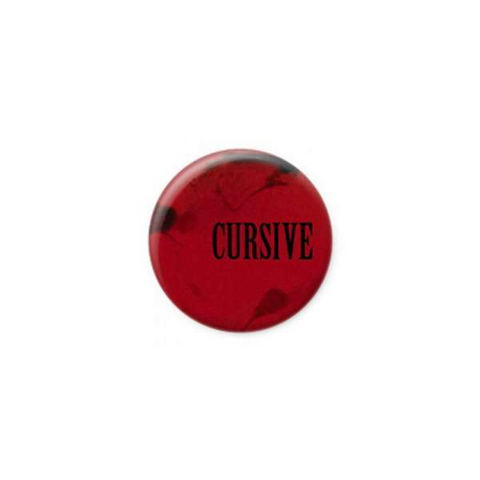 Cursive | Blood Button
