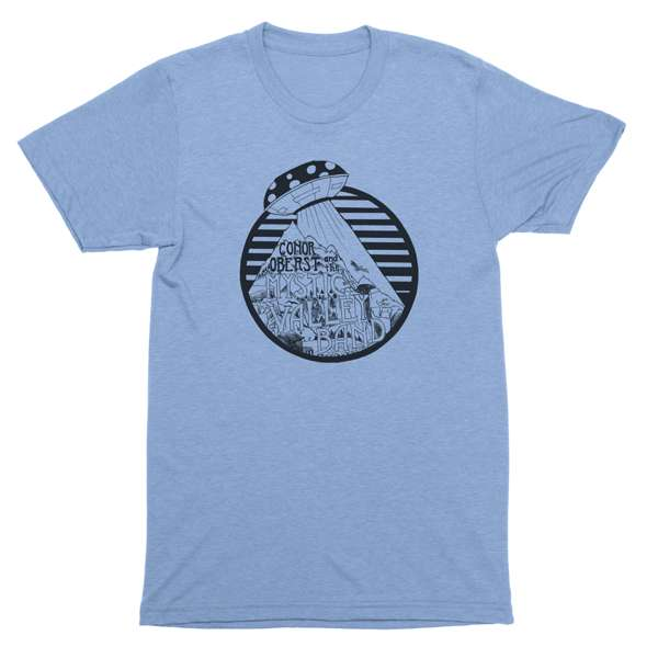 Conor Oberst | Mystic Valley Band - UFO T-Shirt - Blue