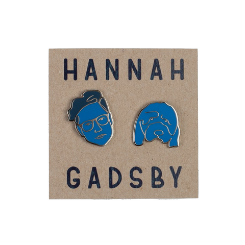 Hannah Gadsby and Douglas Blue Enamel Pin