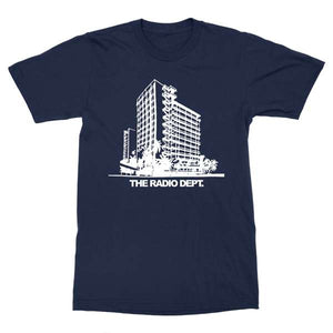 women's cut The Radio Dept. building t-shirt design