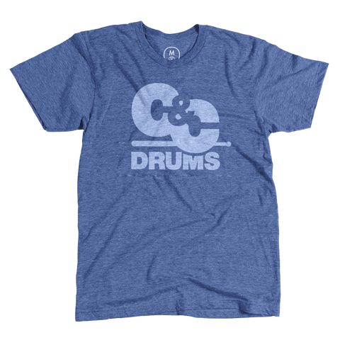 C&C Drum Co. | 70's T-Shirt - Heather Blue