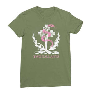 Two Gallants | Women's Crest T-Shirt - Army Green
