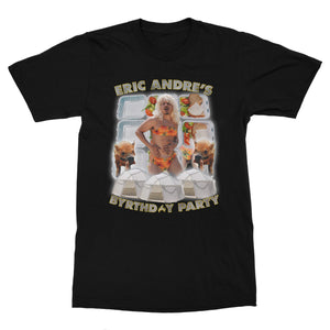 Canvas t-shirt with Eric Andre Byrthday design