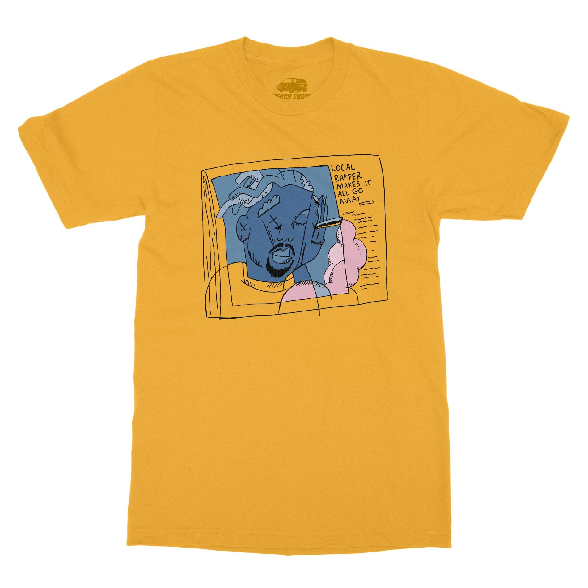 Merch Engine | Microfiche Tee by Arthur Banach - Yellow