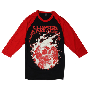 Killswitch Engage Vault | Flame Skull Raglan - Black/Red