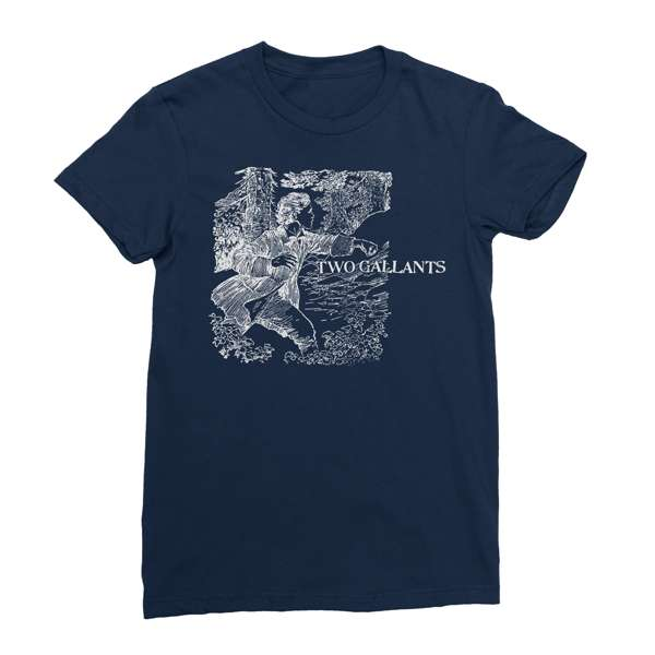 Two Gallants | Women's Forest & Throes T-Shirt - Navy