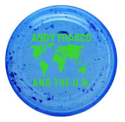 Andy Frasco Blue Frisbee with green continents