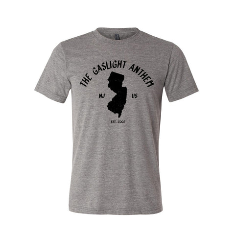 The Gaslight Anthem | New Jersey T-Shirt - Grey