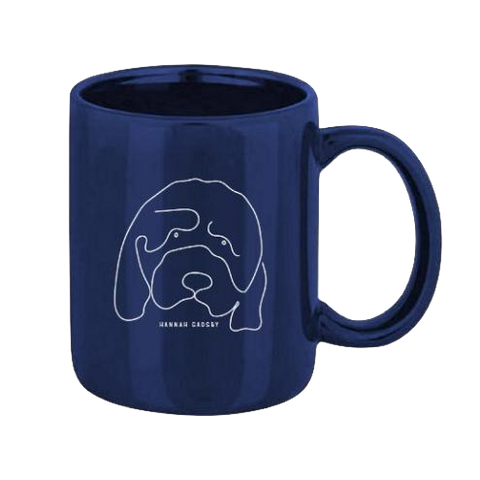 Hannah Gadsby's Douglas the dog Navy Mug