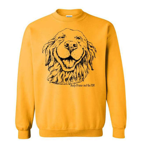 Yellow Andy Frasco Happy Dog sweatshirt