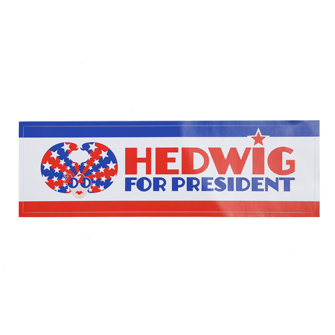 "John Cameron Mitchell - ""Hedwig For President"" Bumper Sticker"